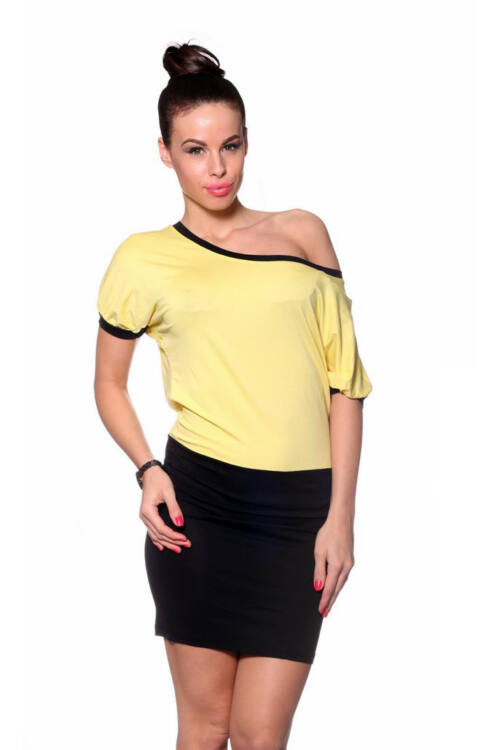 Maxi ruha - Yellow Black