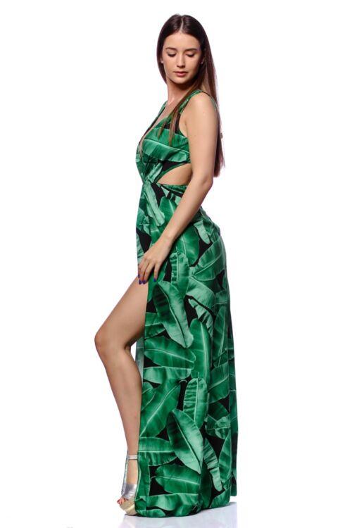 Virágmintás maxi ruha - Green Floral Print