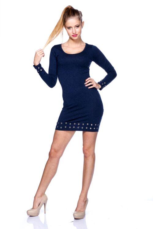 Fűzős mini ruha - Dark Blue