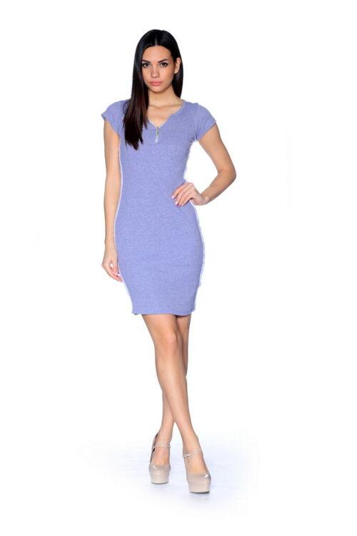 Mini ruha - Melange Grey - White