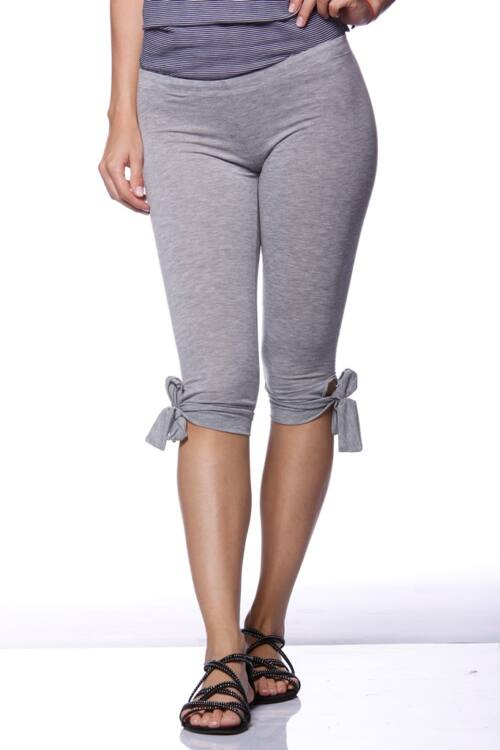 Kötős halász leggings - Melange Grey