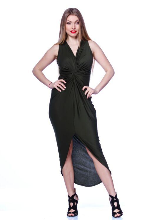 Csavart elejű ruha - Khaki