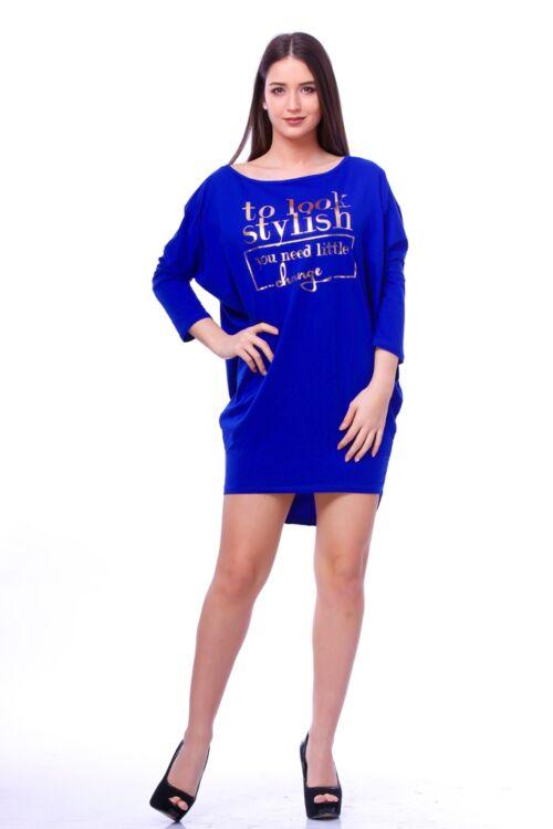 Nyomott mintás mini ruha - Rolyal Blue