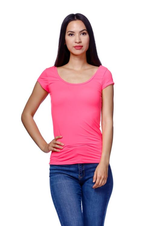 Neon színű póló - Neon Pink