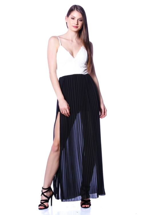 Maxi ruha - Black - White