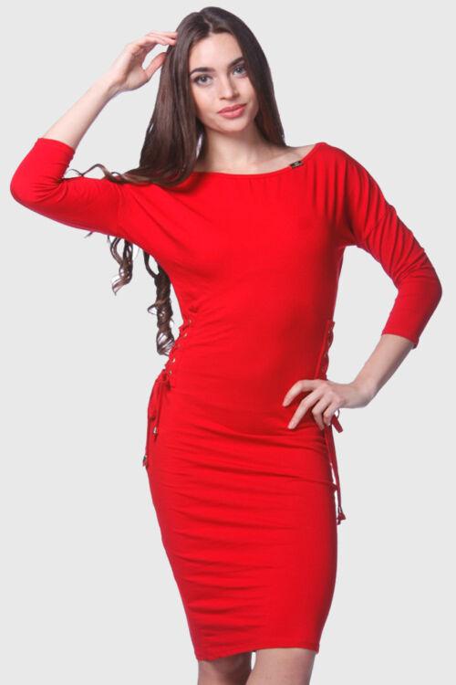 Megkötős midi ruha - Red