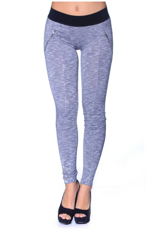 Magas derekú leggings - Marled Medium Grey