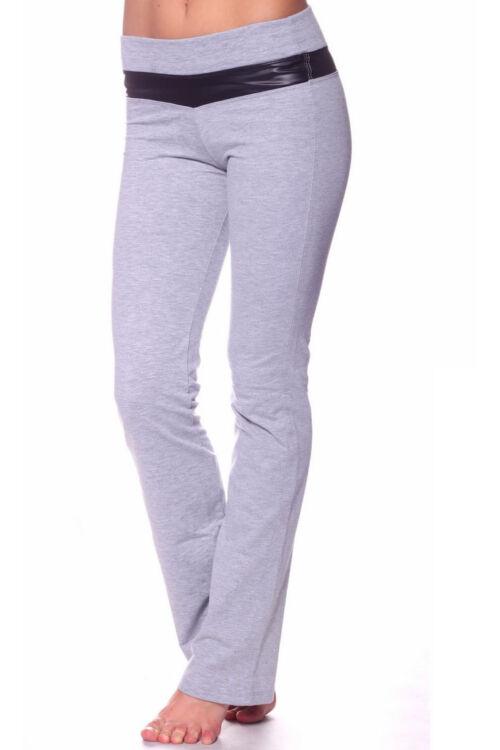 Szabadidő nadrág - Melange Grey Faux Leather