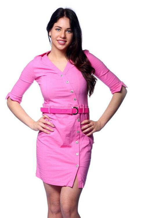 Aszimmetrikus ingruha - Hot Pink