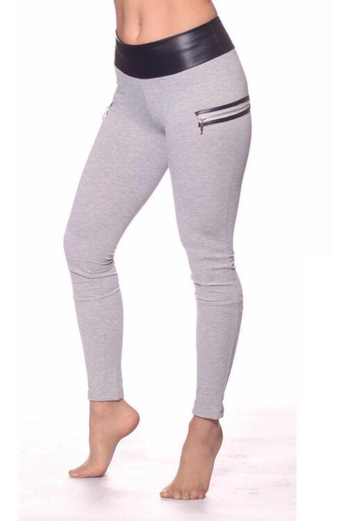 Nadrág - Melange Grey Faux Leather
