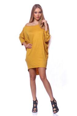Bő szabású lezser viselet - Mustard