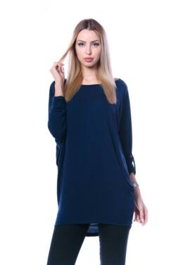 Oldal zsebes laza mini ruha - Dark Blue