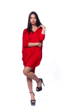 Laza mini ruha - Red