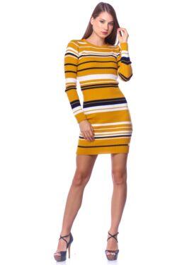 Mini ruha - Mustard - Dark Blue
