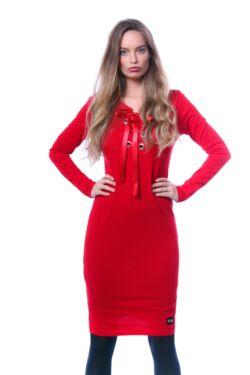Fűzős részlet mini ruha - Red