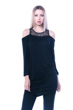 Bő szabású miniruha - Black