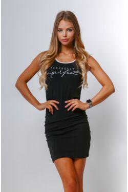 Nyomott mintás mini ruha - Black