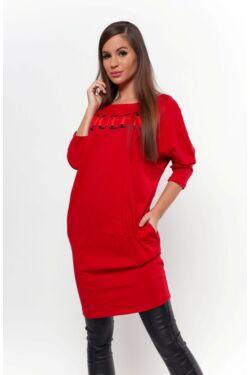 Nyomott mintás mini ruha - Red