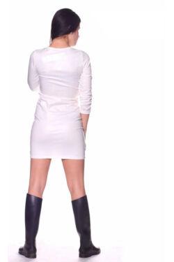 Bőr patentos mini ruha