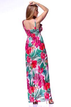 Trópusi mintás maxi ruha