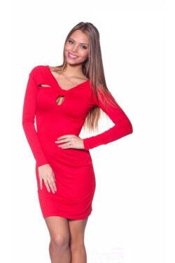 Csavart hátú ruha - Red