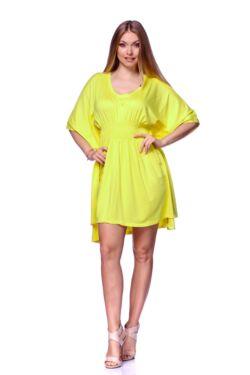 Denevér ujjú mini ruha - Yellow