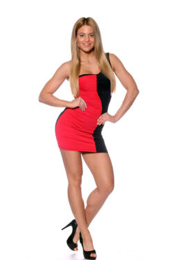 Maxi ruha - Red Black