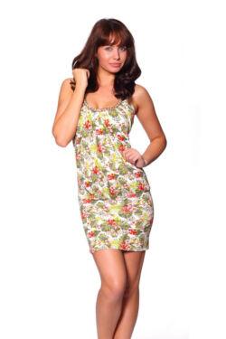 Maxi ruha - Flower Pattern Green
