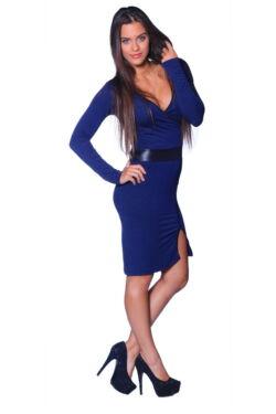 Oldalt Sliccelt ruha - Dark Blue - Black