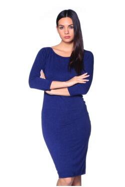 Denevérujjú midi ruha - Dark Blue