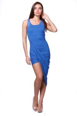 Csavart aljú mini ruha - Rolyal Blue