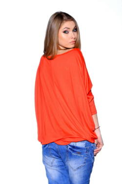 Oversized Top Coral - Black