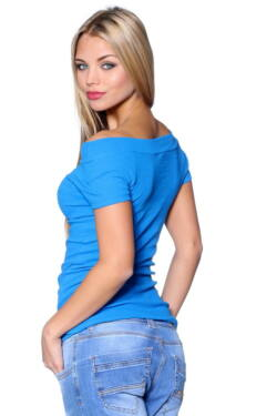 Ribbed Top Rolyal Blue