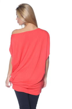 Oversized Top Coral