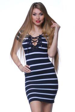 Mini ruha - Stripe - White - Navy Blue - Dark Blue