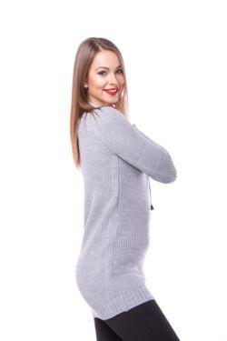 Fűzős Pulóver - Grey