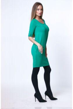 Oldalzsebes mini ruha - Petrol Green