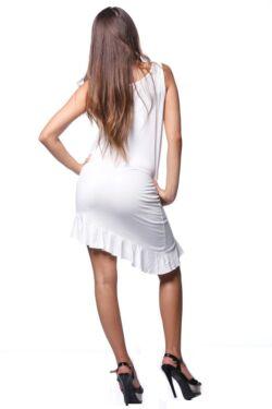 Fodros aljú asszimetrikus mini ruha