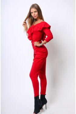 Dupla fodros ruha - Red