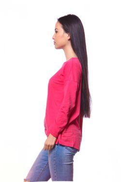 Bő szabású hosszú ujjú felső - Hot Pink