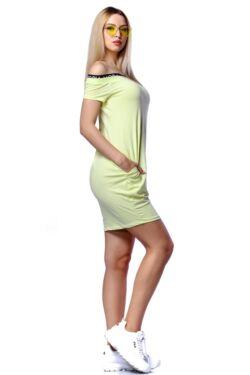 Oldalzsebes mini ruha - Yellow