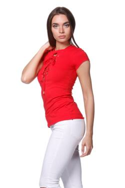 Bat sleeve Top loose fit (V1) - Red