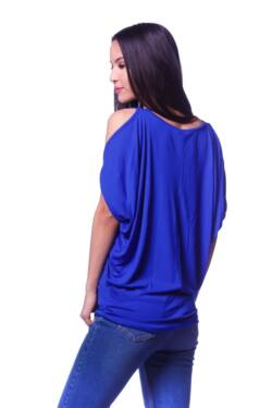Dolman Sleeve Cut Out Shoulder Top