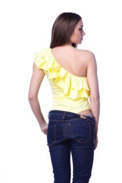 One Shoulder Ruffle Bodysuit