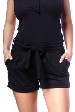 Megkötős, zsebes rövid nadrág - Black