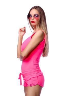Ujjatlan felső - Neon Pink
