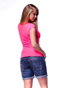 Neon színű keresztpántos póló