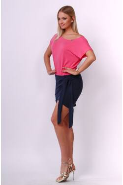 Mini ruha - Dark Blue - Hot Pink