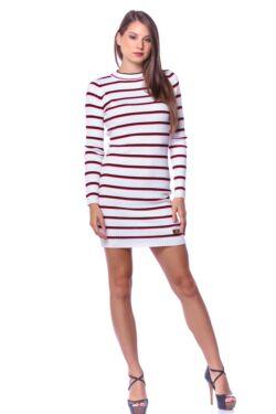 Mini ruha - Cream - Red