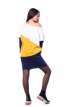 Color Block bő szabású ruha